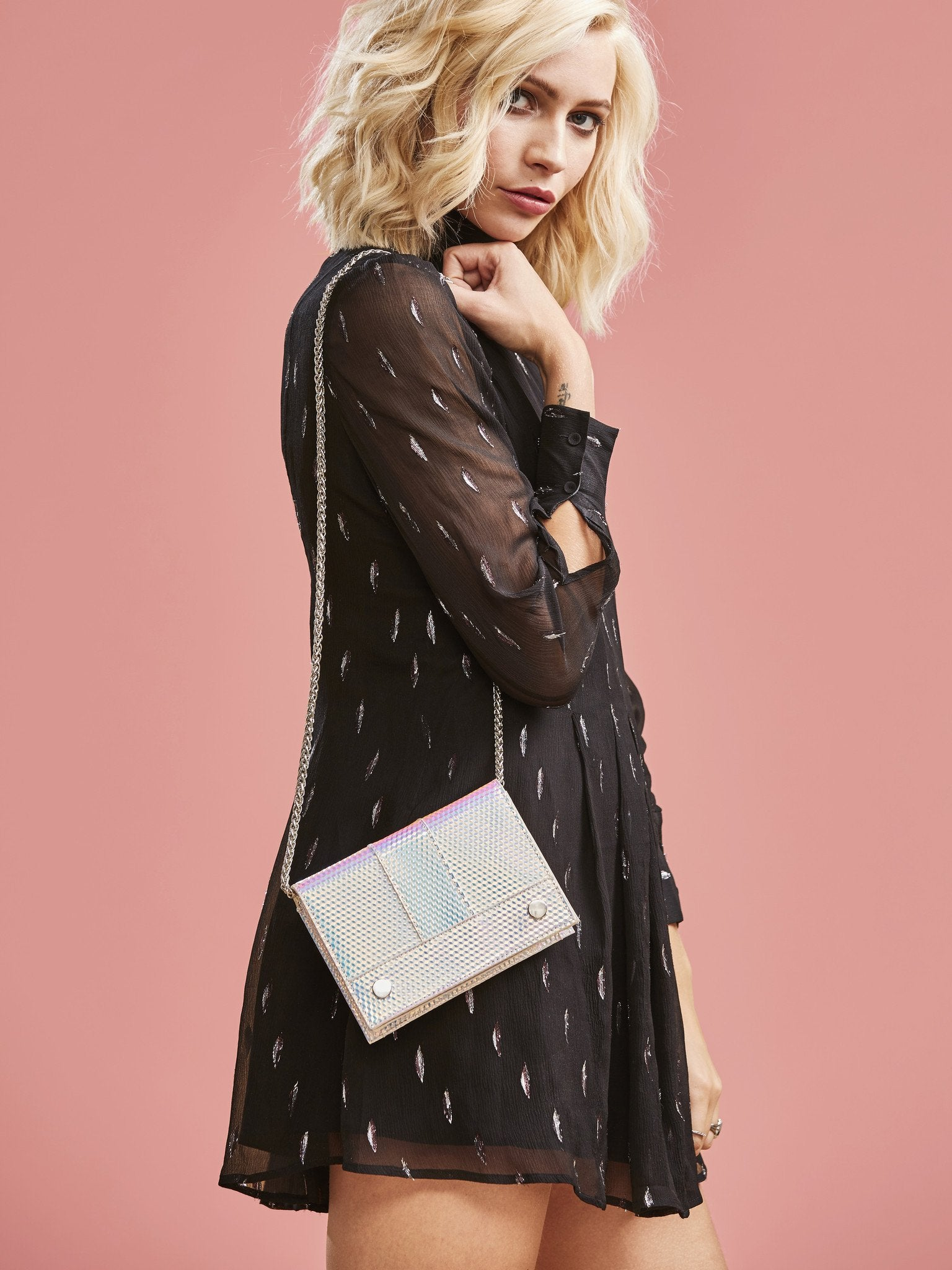 Druzy Ray Cross Body Bag