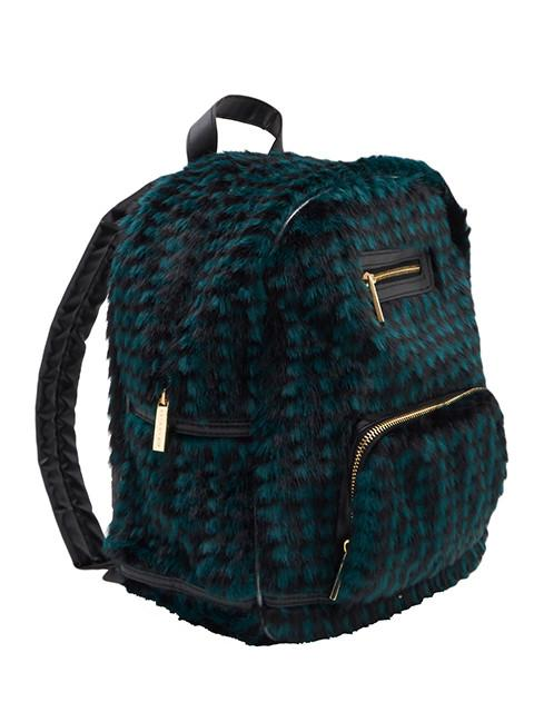 Houndstooth Fur Backpack