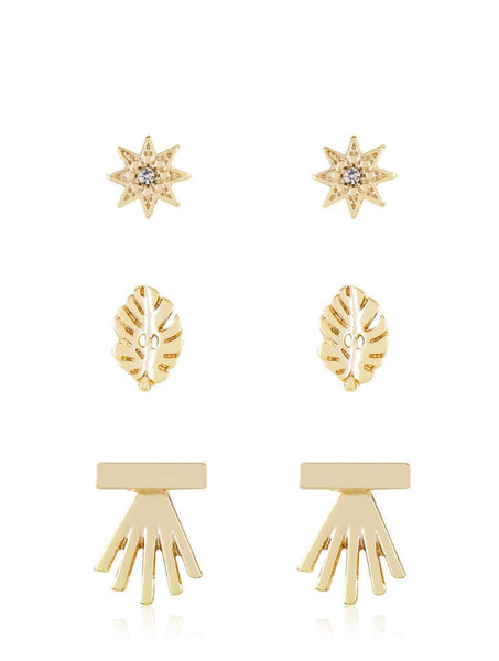 Gold Star Stud Earring Pack