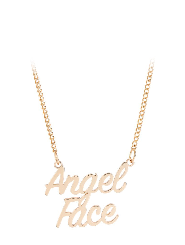 Angel Face Star Necklace