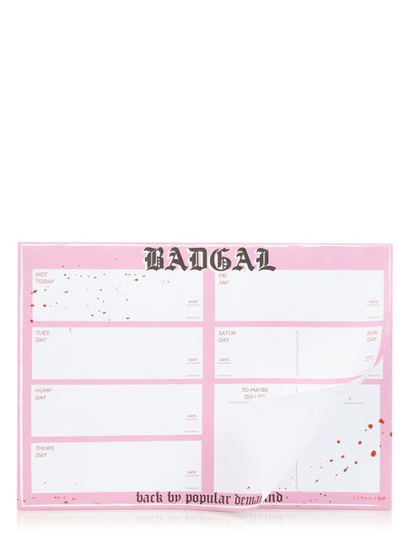 BADGAL Weekly Planner Pad