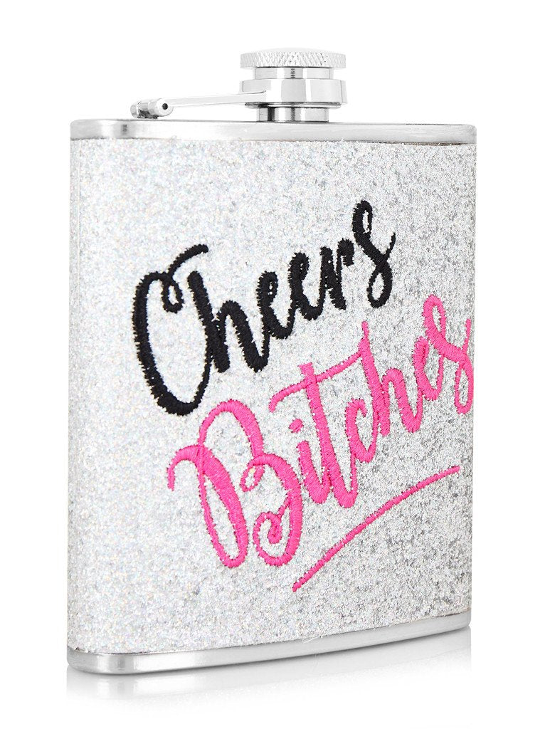 Cheers Bitches Hip Flask