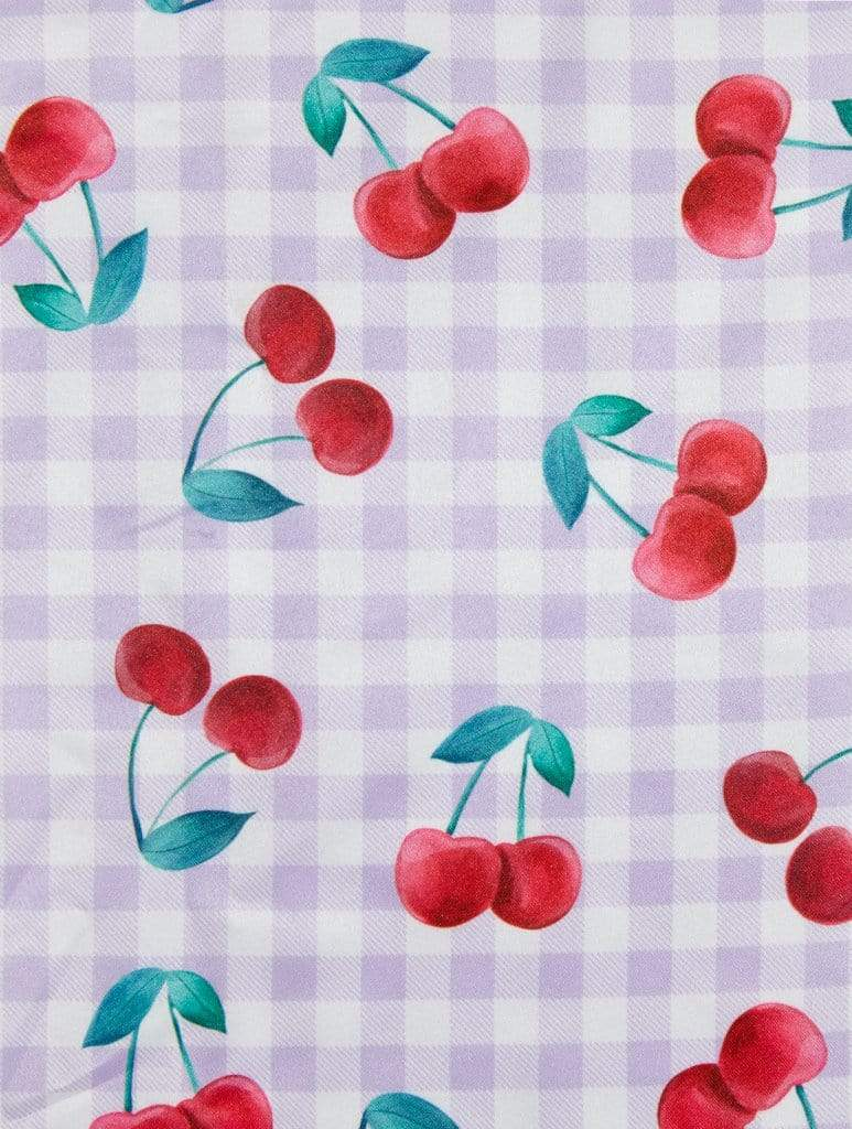 Cherry Gingham Scarf