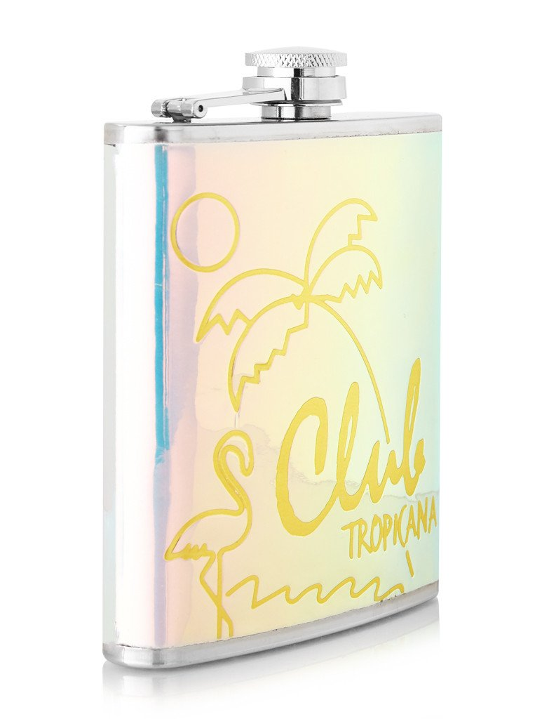 Club Tropicana Hip Flask