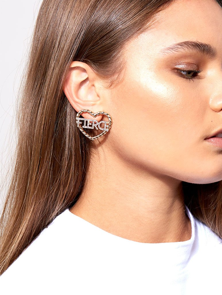 Fierce Heart Earrings