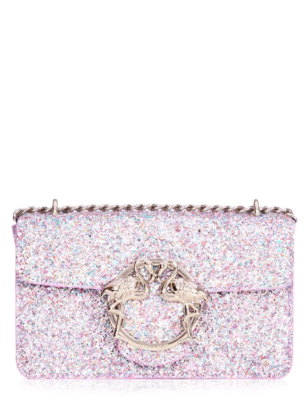 Glitter Flamingo Clasp Cross Body Bag
