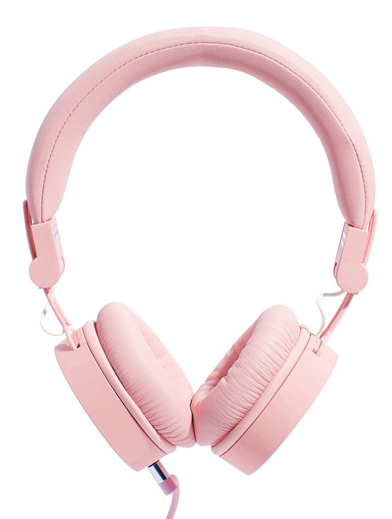 Caps Pink Wired Headphones