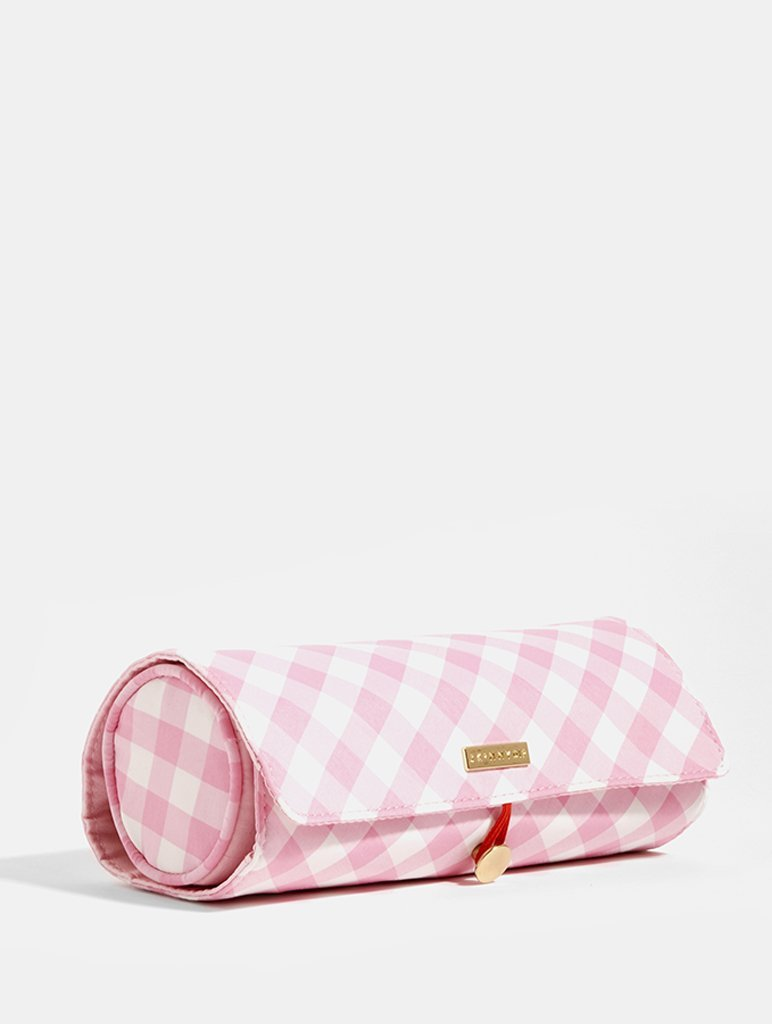 Gingham Makeup Roll