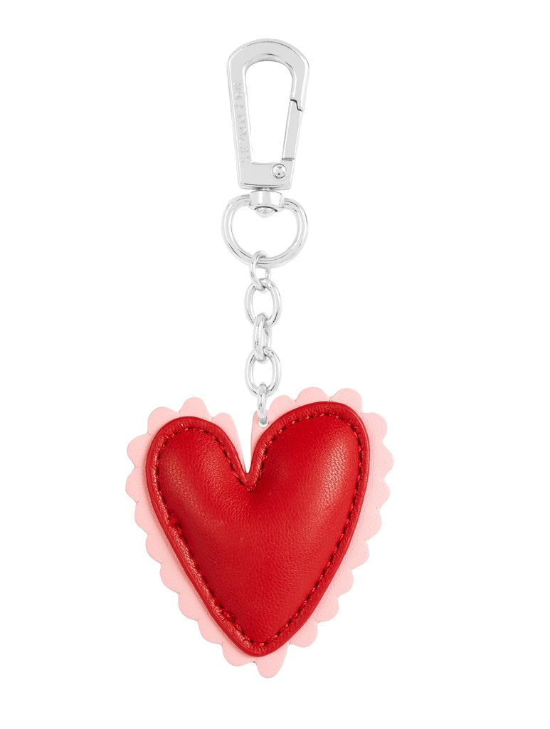 Heart Face Key Charm