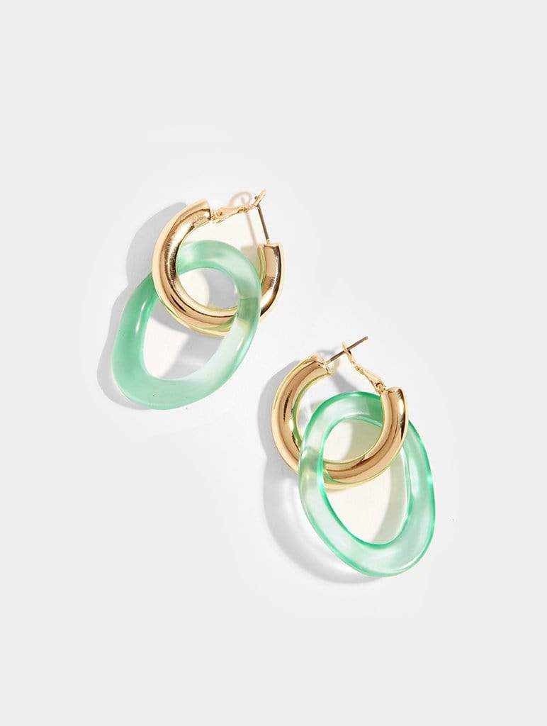 Jade Loop Earrings