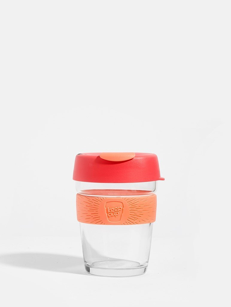 KeepCup Brew Glass Coffee Cup Living Coral