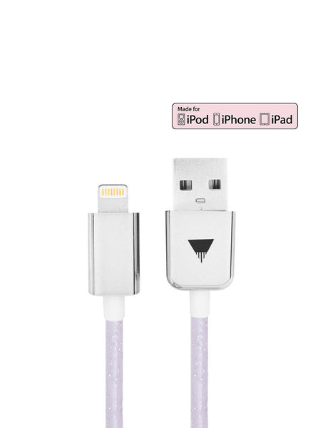 Lilac Glitter iPhone Cable