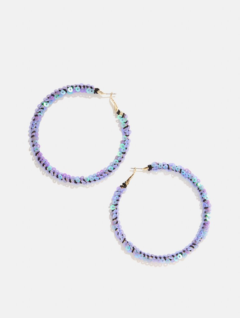 Lilac Marina Hoop Earrings