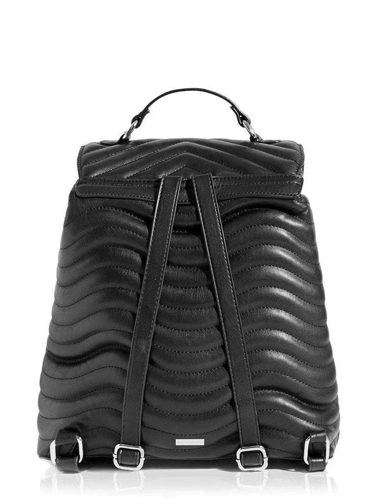 Lyla Quilted Black Backpack
