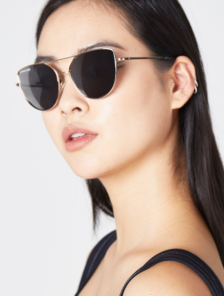Mia Gold Aviator Sunglasses