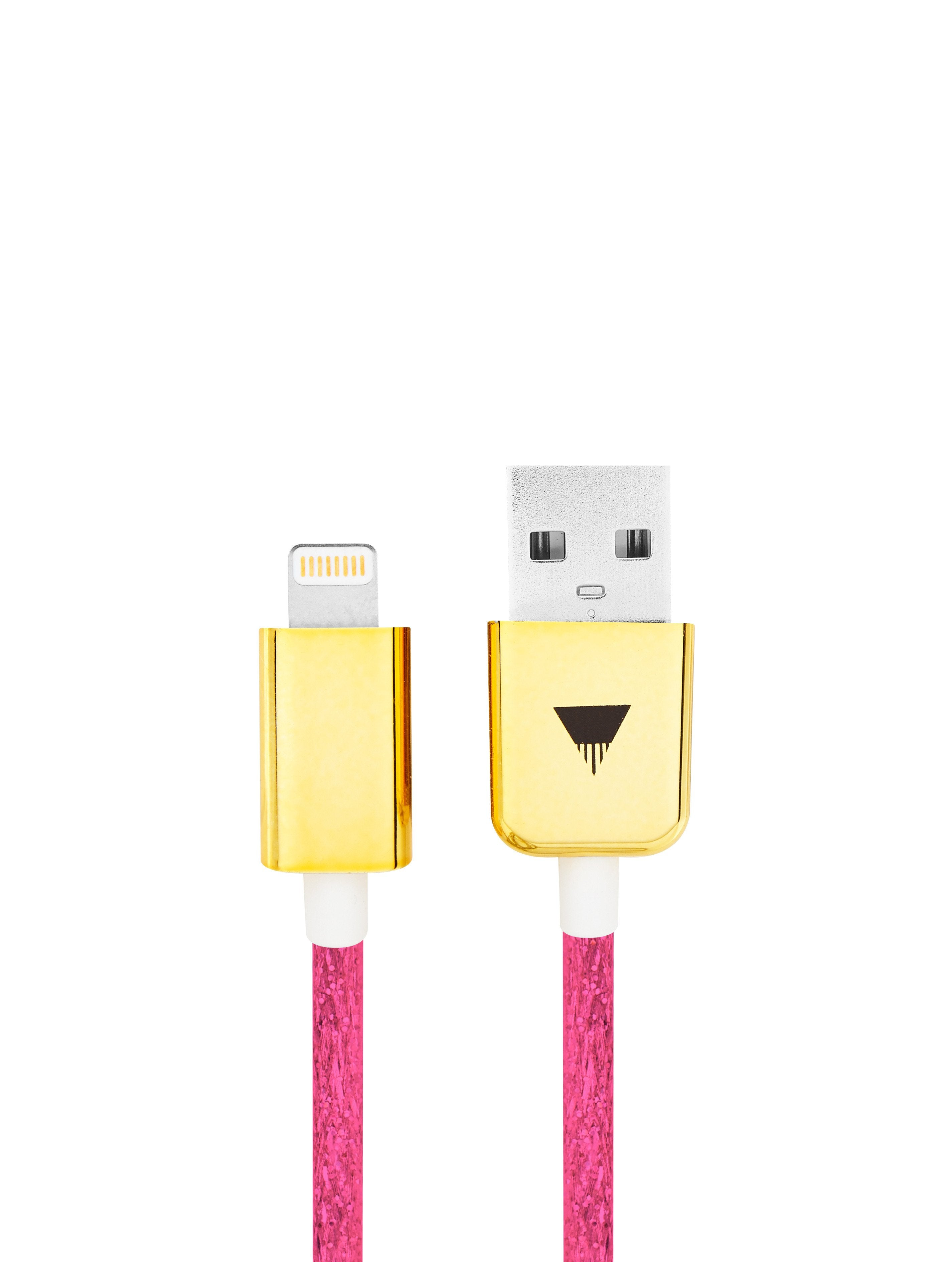 Pink Glitter iPhone Cable