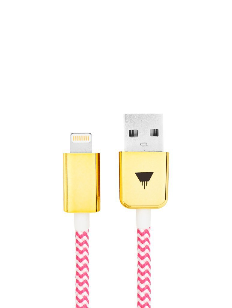 Pink Rope iPhone Cable