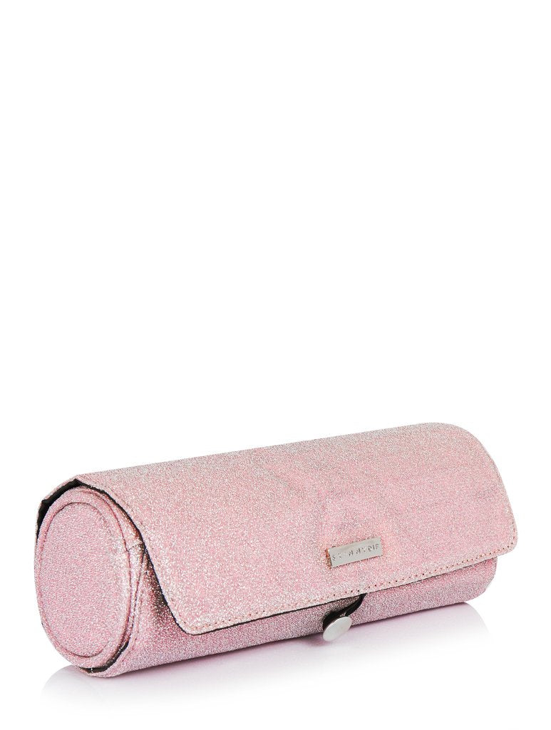 Pink Lurex Makeup Roll