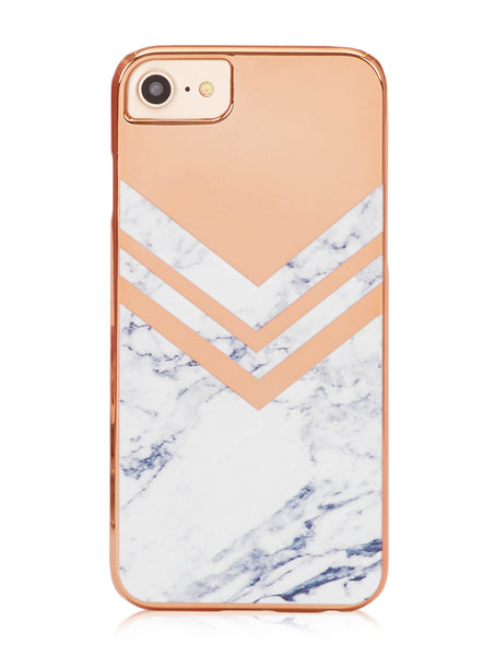 Rose Gold Marble Case
