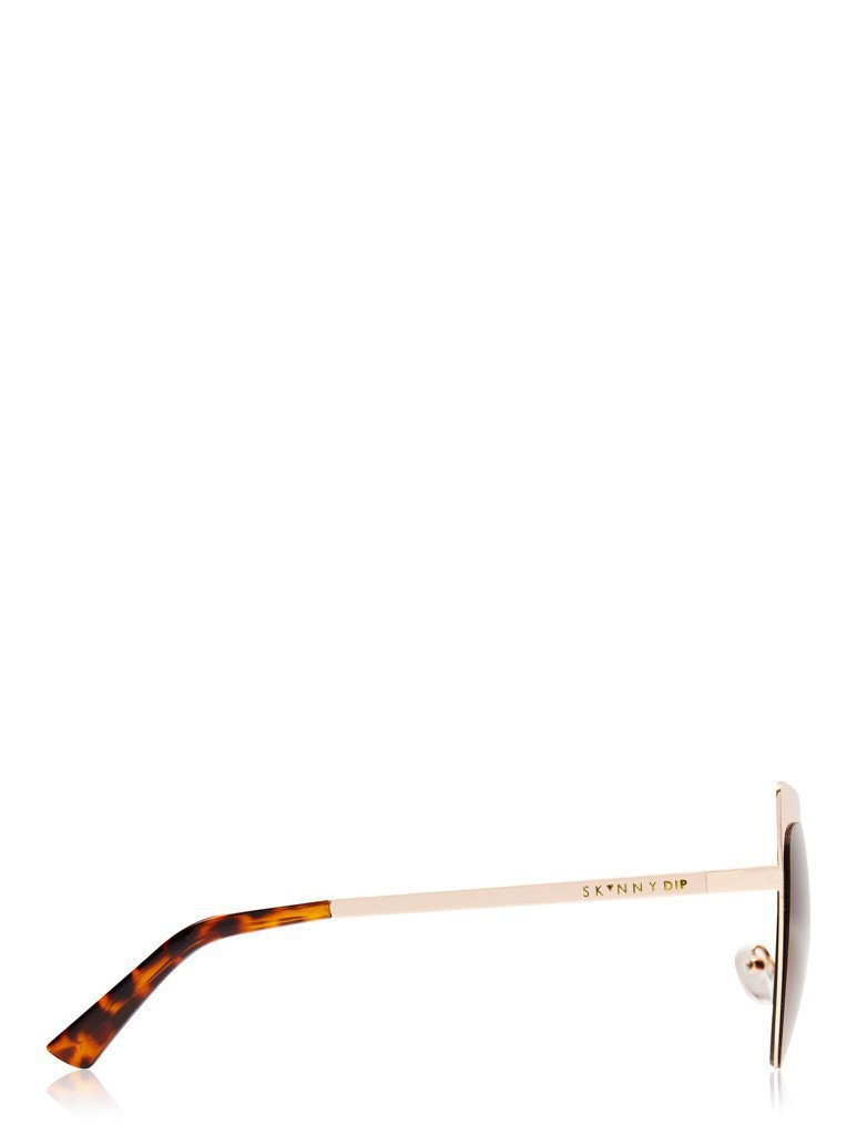 Scarlett Gold Metal Kitten Sunglasses