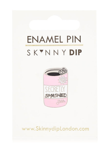 Secretly Smashed Enamel Pin