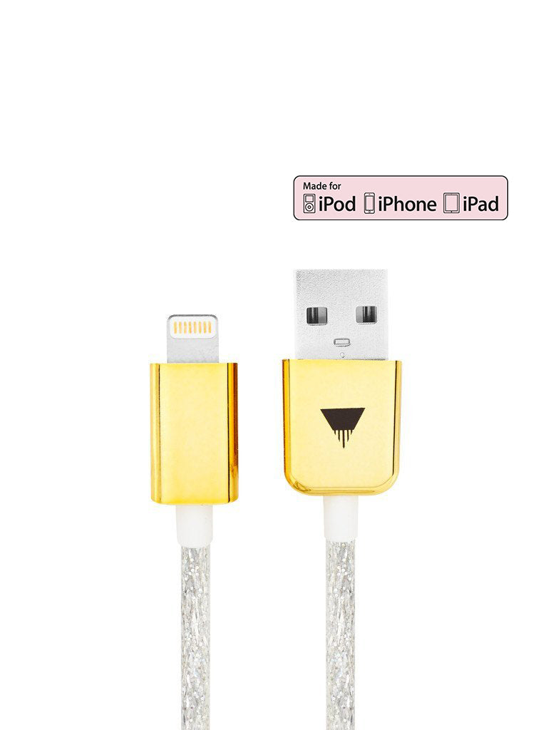 Silver Glitter iPhone Cable