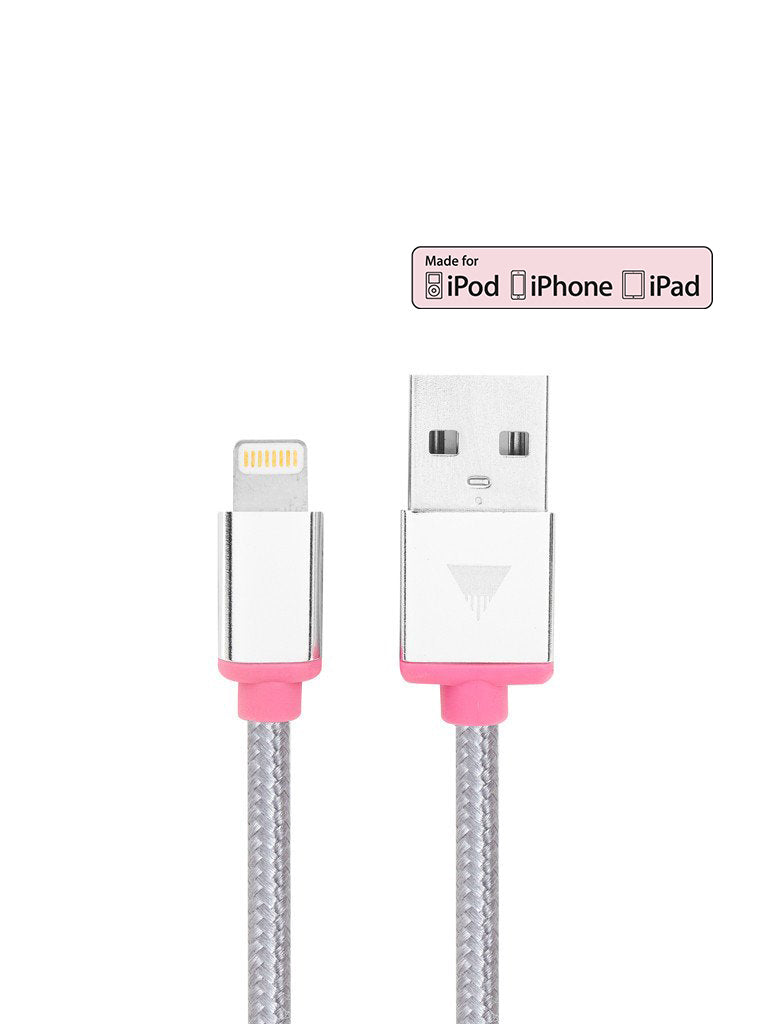 Silver iPhone Cable