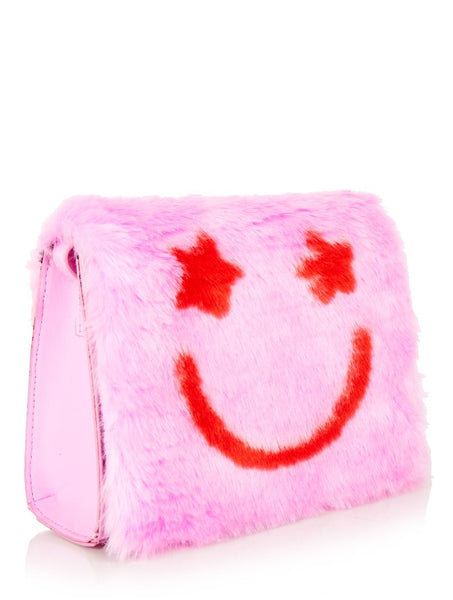 Furry Smiley Bridgette Shoulder Bag