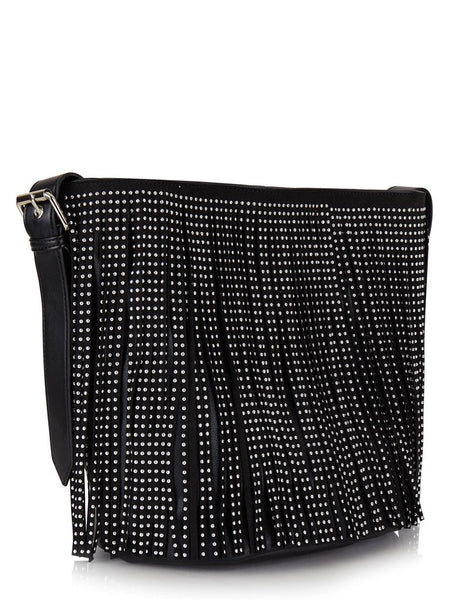 Studded Tassel Cross Body Bag
