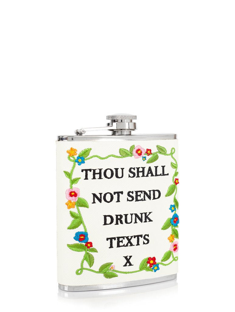 Thou Shall Not... Hip Flask