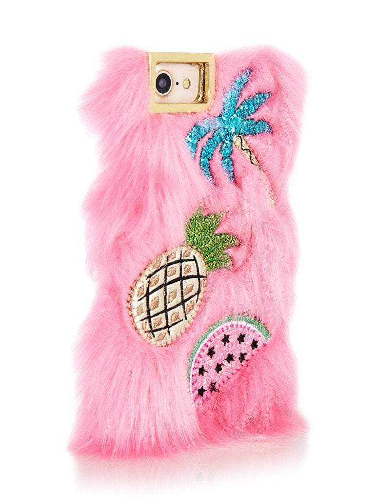 Fur Embroidered Case