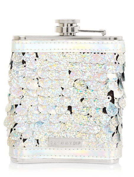 Shell Sequin Hip Flask