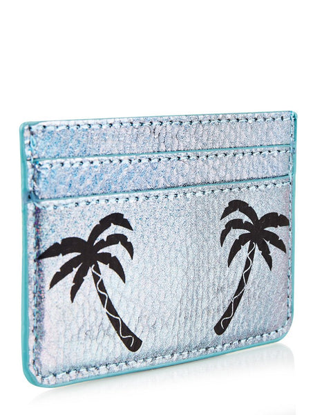 Palm Shimmer Card Holder