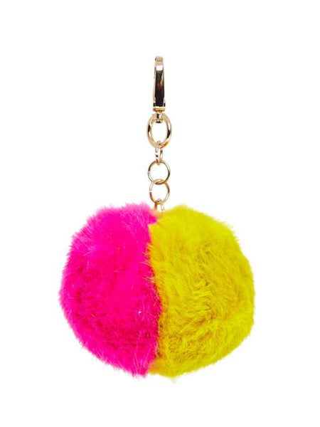 Pink/Yellow Pom Pom Keychain Skinnydip London