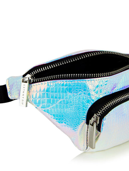 Silver Holographic Bumbag