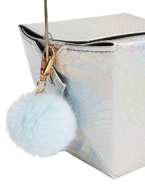Silver Holographic Take Out Bag