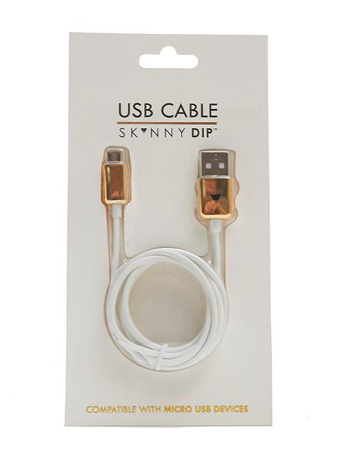 White Micro USB Cable