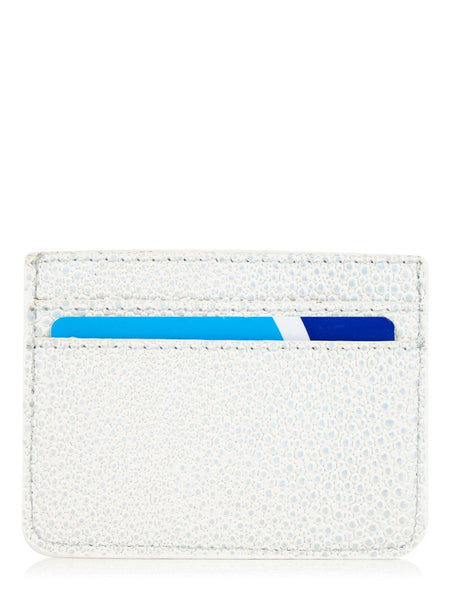 White Shimmer Card Holder