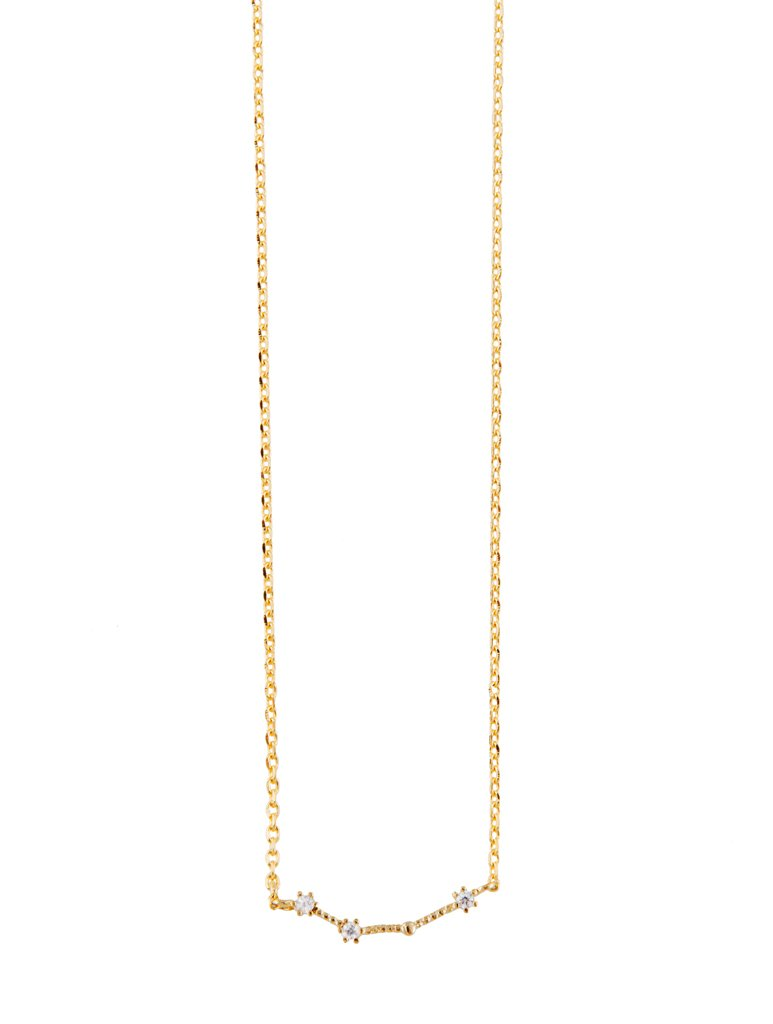Aries Gold Zodiac Necklace