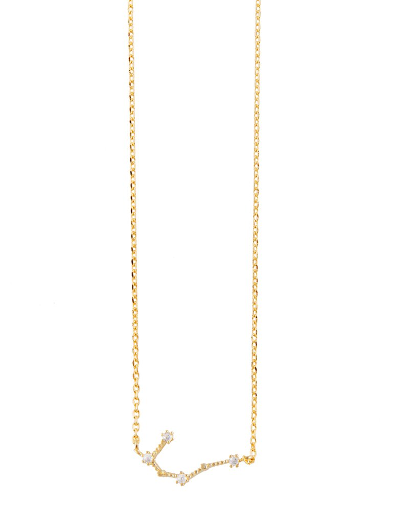 Gemini Gold Zodiac Necklace