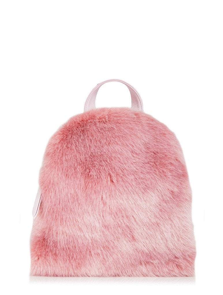 Charlie Pink Fur Mini Backpack