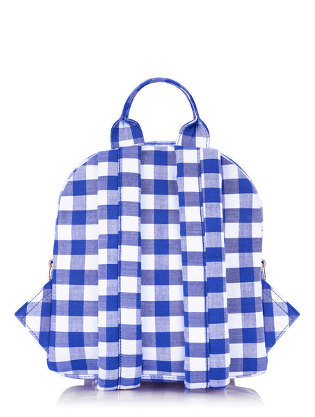Blue Gingham Chloe Backpack