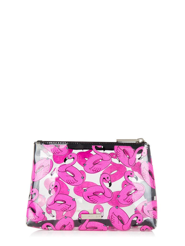 Flamingo Float Make Up Bag