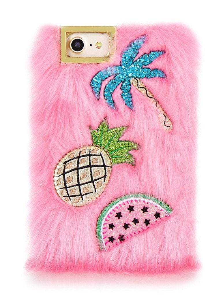 Skinnydip London Fur Embroidered Case