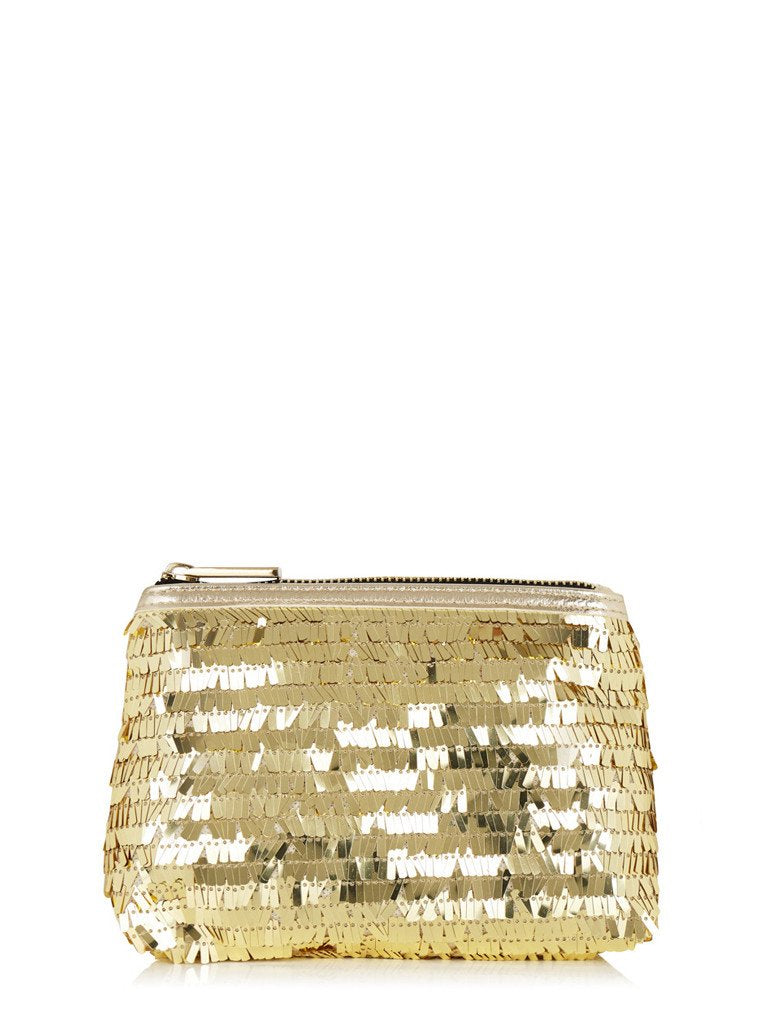 Gold Sequin Makeup Bag
