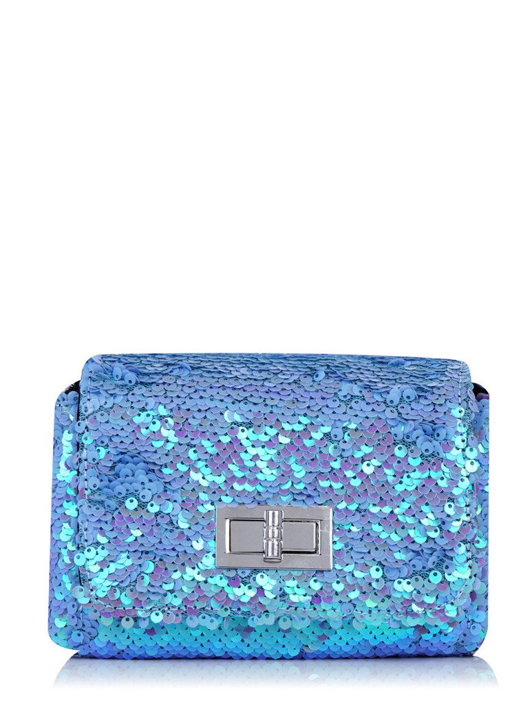 Lilac Sequin Mini Bag