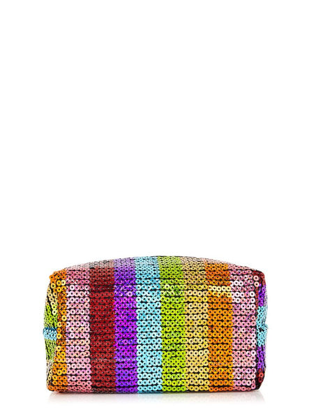 Rainbow Sequin Make Up Bag