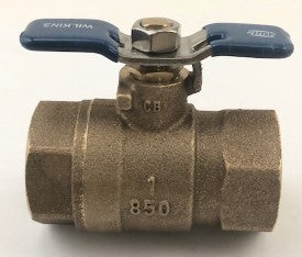 "WILKINS 1-850 1"" NON TAPPED BALL VALVE"