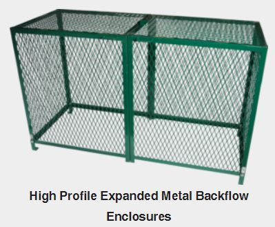 "EXPANDED METAL B/F CAGE 75""L x 42""H x 30""W"