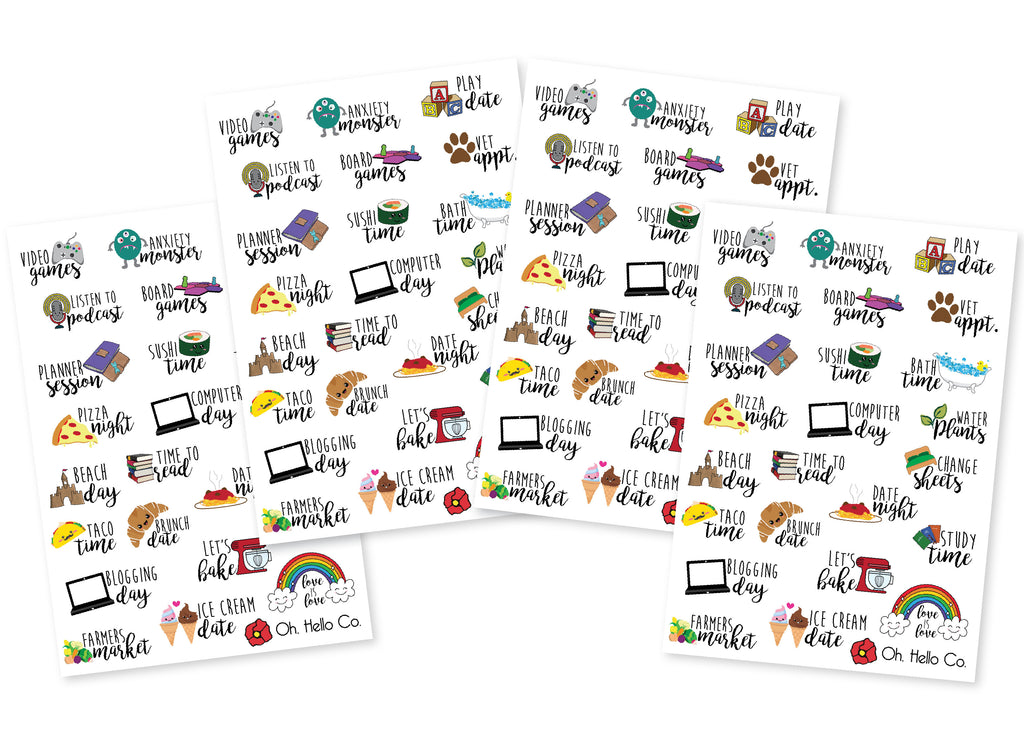 Icon Variety Font Stickers - Oh, Hello Stationery Co. bullet journal Erin Condren stickers scrapbook planner case customized gifts mugs Travlers Notebook unique fun